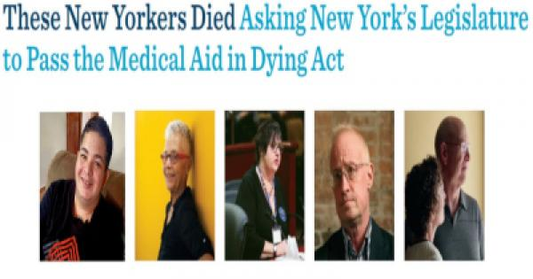 """""""The New York Medical Aid in Dying Act would allow mentally capable adults who've been diagnosed with a terminal illness to make"""
