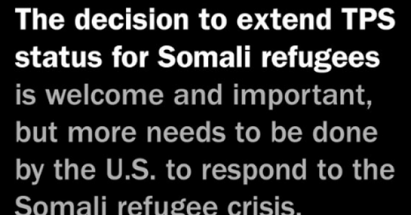 Alejandro N. Mayorkas announced an 18-month extension and re-designation of Somalia for Temporary Protected Status