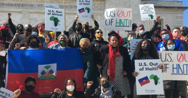 Haiti Action Committee who are calling on the US government to end its support of the PHTK Party in Haiti.