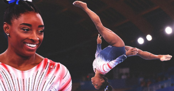 Simone Biles made her return to the competition floor -- and it didn't disappoint.
