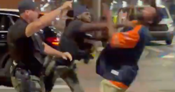 man who was punched by an officer so hard he was knocked to the ground