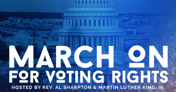 March On for Washington and Voting Rights, announced that the siblings of the late civil rights legend Representative John Lewis
