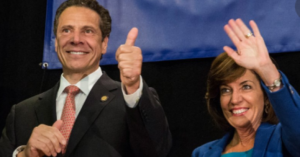 """In his address, Cuomo said of Hochul: """"We all wish her success."""""""