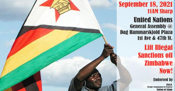 Saturday's march for the lifting of sanctions against Zimbabwe will start at 11:00 am ET at the Dag Hammarskjold Plaza, at the U