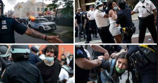 As we've seen time and time again: people came to dissent. Police came to attack.