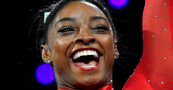 """Olympic gold medalist Simone Biles responded to the criticism from """"One Million Moms,"""" a conservative Christian group"""
