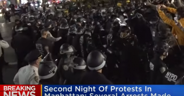 Last night, we saw videos of the NYPD appearing overly aggressive in the way it polices certain protests
