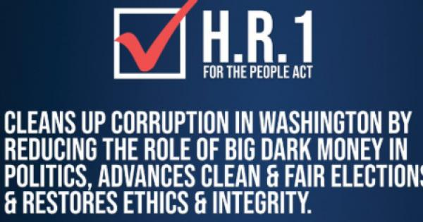 For the People Act of 2020 (HR 1), an updated version of the historic democracy reform bill the House passed in March 2019.