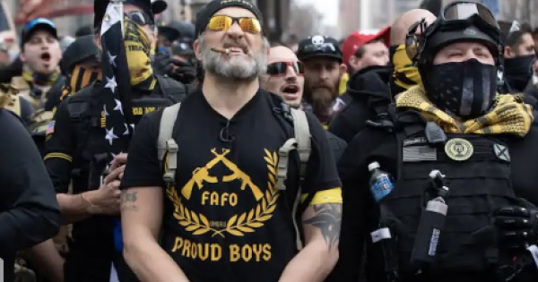 Donald Trump's rabid right-wing followers, especially the white supremacist elements, like the Proud Boys, are marching today in