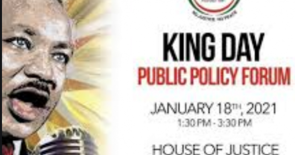 Annual Martin Luther King Day Public Policy Forum to honor the legacy of the Rev. Dr. Martin Luther King, Jr.