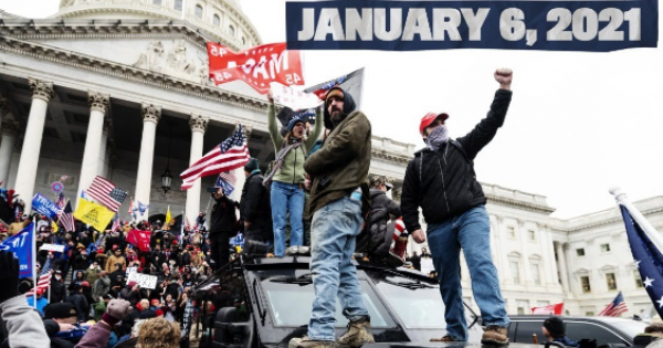 white insurrection in Washington, D.C.—including a hangman's noose on the Capitol grounds and the Confederate flag carried insid