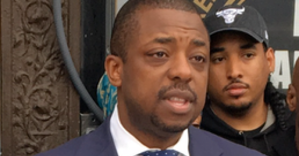 Brian Benjamin announced his endorsement by a group of Bronx legislators.