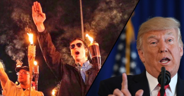 Donald Trump and his white supremacist followers