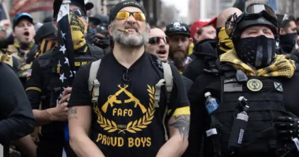 President Joe Biden called out the Proud Boys as one of the greatest threats to America