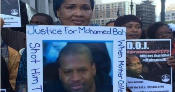 Hawa Bah, the mother of Mohamed Bah, another Black victim of the killer-cops in the NYPD