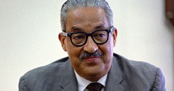 former Supreme Court Justice Thurgood Marshall's work, on the Innocence Project organization, in pursuing justice today.