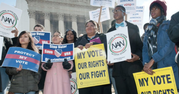 The Supreme Court takes up a court fight Tuesday over voting rights in the battleground state of Arizona