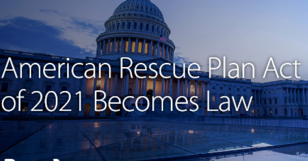 U.S. Congress voted on the American Rescue Plan