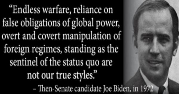 Will Joe Biden end the endless wars America always engages in or won't he?