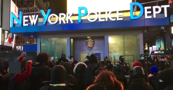 following the police killing of Michael Brown in Ferguson – de Blasio promised NYPD officers would be retrained.
