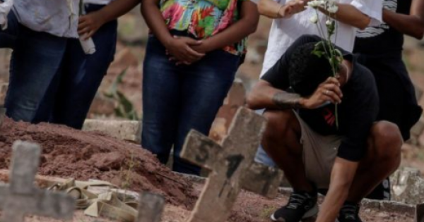 Brazil reported a 24-hour tally of COVID-19 deaths exceeding 4,000 for the first time Tuesday,