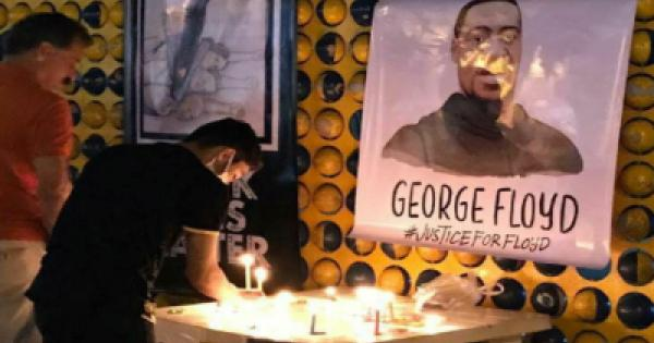 in memory of George Floyd on the one year anniversary of his death.