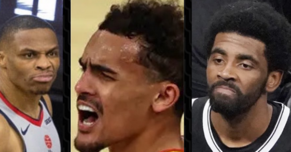 Nets' player Kyrie Irving had a water bottle thrown at him, Washington Wizards' star Russell Westbrook had popcorn dumped on his