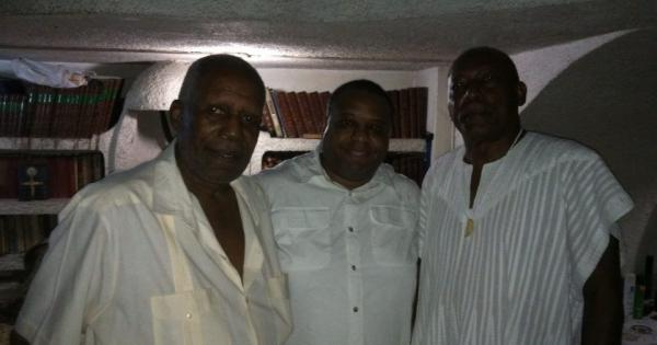 Max G. Beauvoir, Patrick Delices, and James Small in Haiti (Photo courtesy of Patrick Delices).